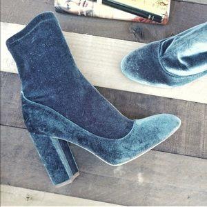 Sam Edelman Calexa Velvet Sock Bootie